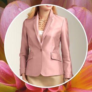 Talbots NWT Kate Fit Tan Silk Dupioni Jacket